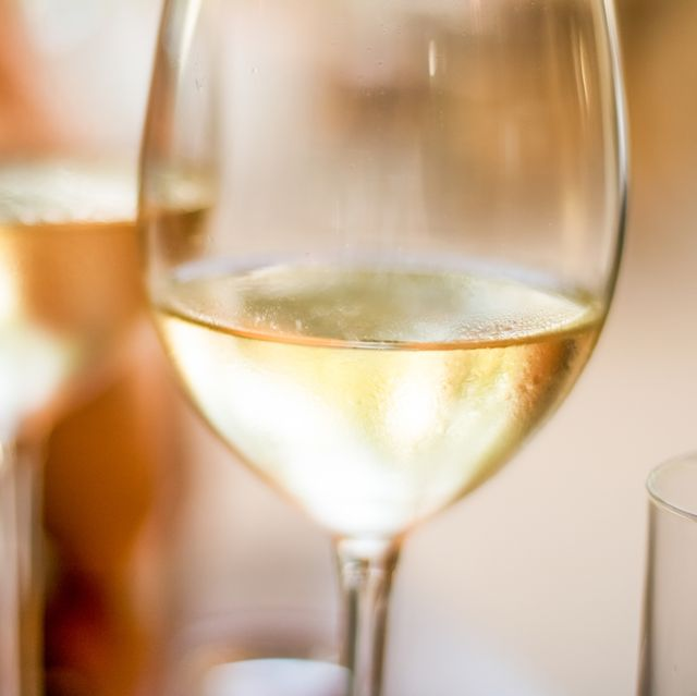 french white wine in a restaurant in paris, travel experience