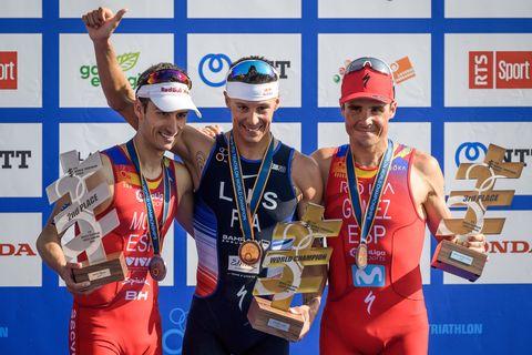 Mario Mola, Gómez Noya y Vincent Luis