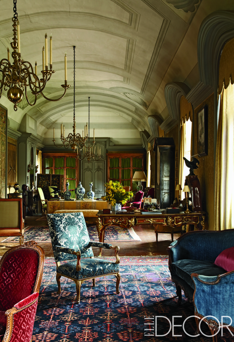 English Country House Drawing Rooms: French Country Style Interiors