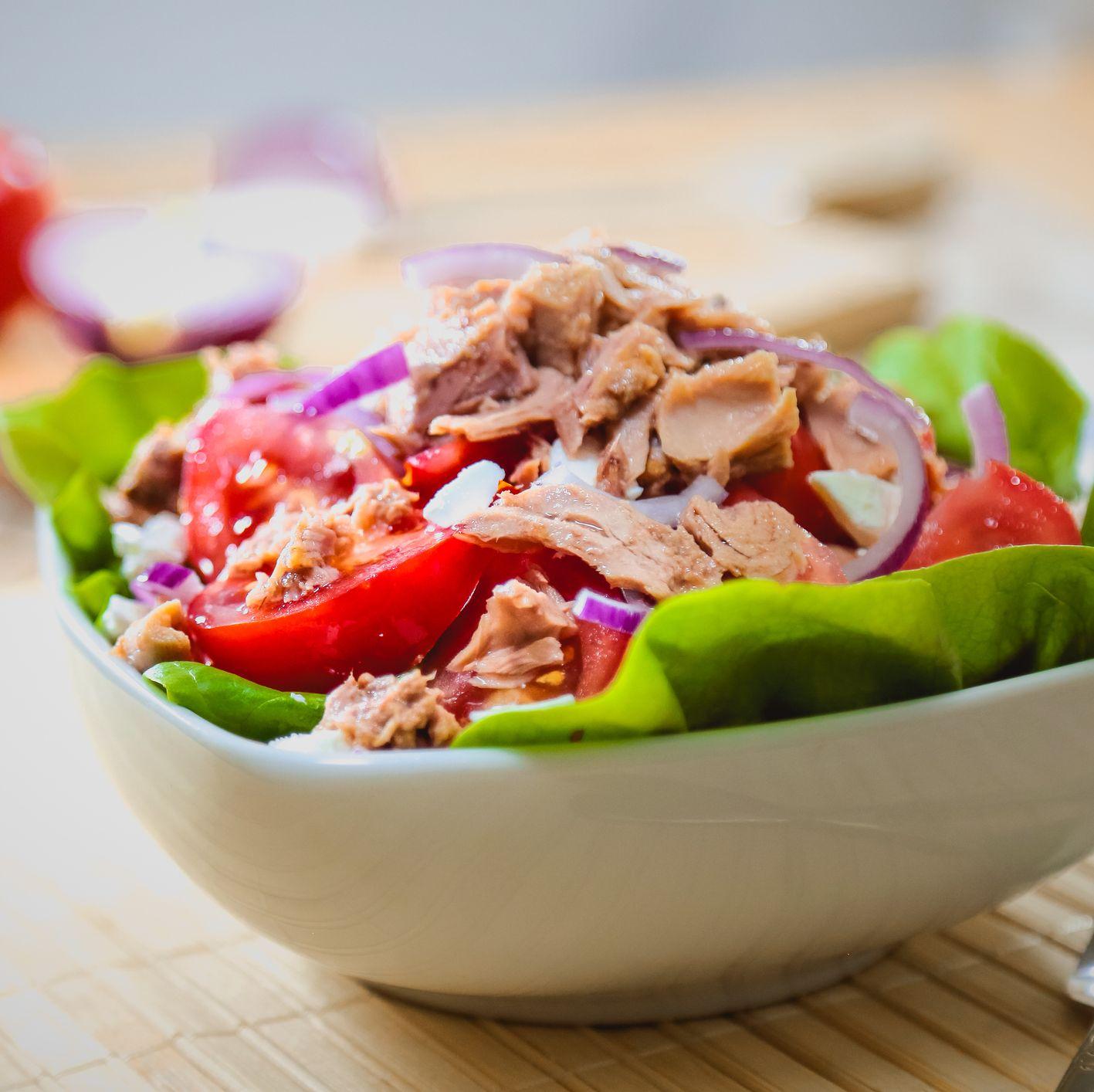 Fresh and colorful tuna salad