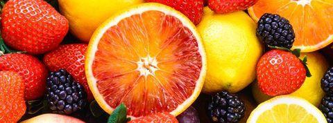 Fresh fruits.