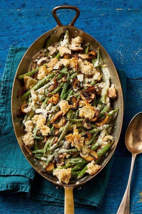 thanksgiving potluck ideas   fresh green bean casserole