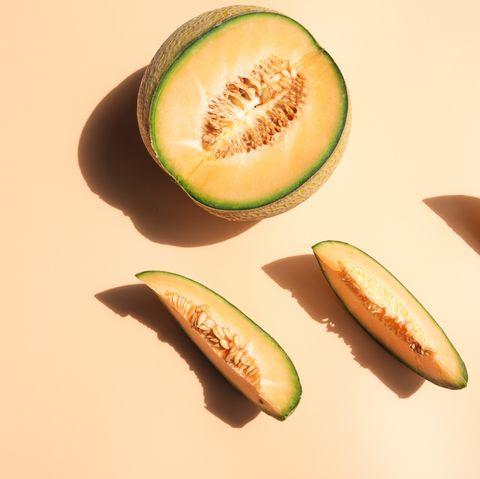 melón cortado en rodajas