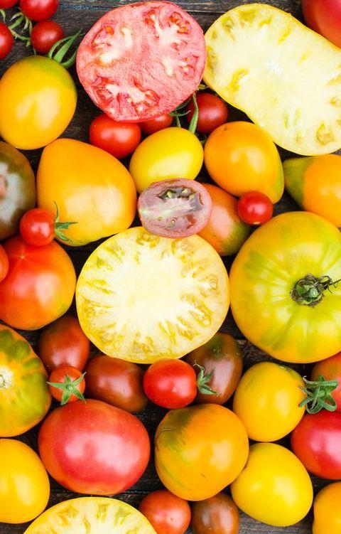 FreshOrganic Tomatoes. Colorful Tomatoes Background.
