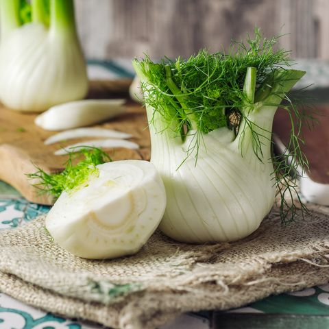 Fresh raw fennel