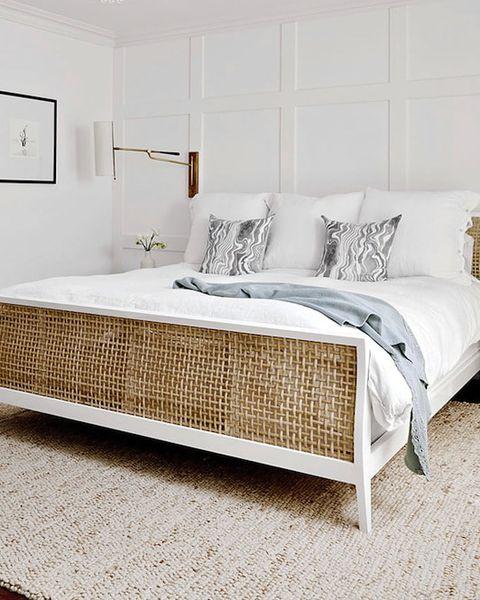 Bedroom, Furniture, Bed, Room, Bed frame, Bed sheet, Interior design, Nightstand, Wall, Mattress,