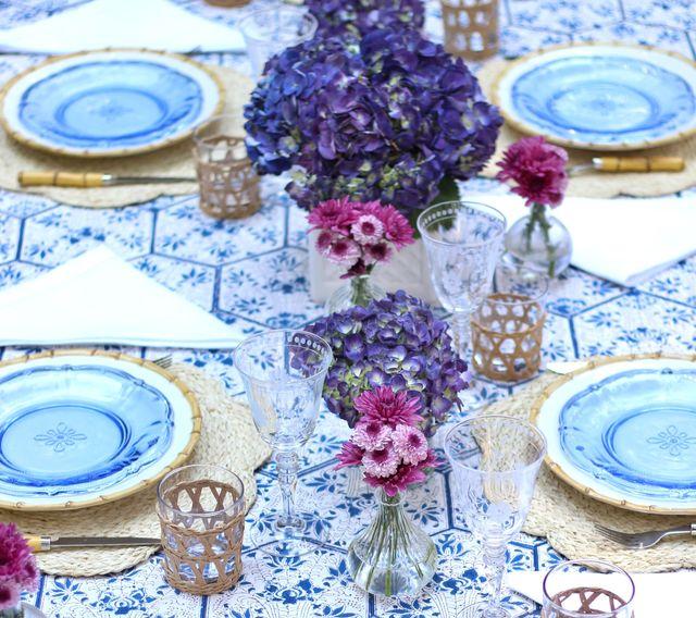 freshly set table