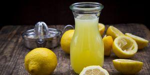 Freshly squeezed lemon juice, organic lemons, lemon squeezer