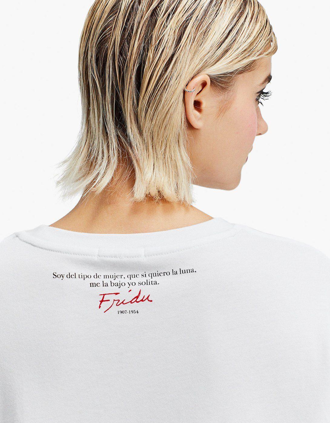 Llega Camisetas Kahlo Stradivarius De Frida A Saca 0yOvmN8nw