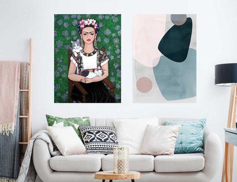 Obra 'Frida', de Madalena Lobao-Tello, y Graphic 150 A, de Mareike Böhmer Graphics,a la venta enPosterlounge