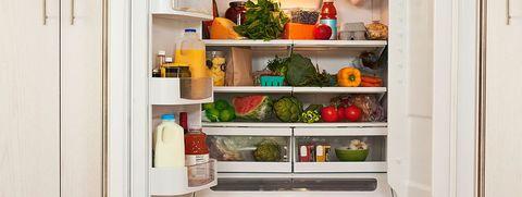 Refrigerator, Major appliance, Shelf, Home appliance, Kitchen appliance, Furniture, Room, Shelving, Drawer, Home accessories,
