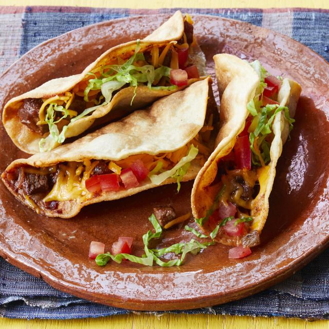 fried beef tacos