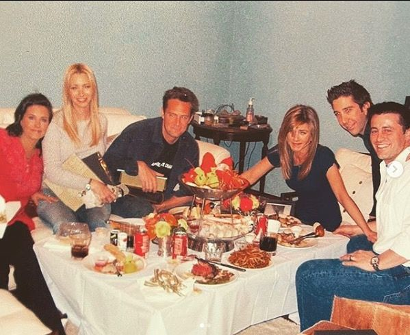 "Courtney Cox shares previously unseen picture of the Friends ""last supper"""