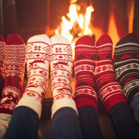 christmas activities - Friends at cozy winter vacation