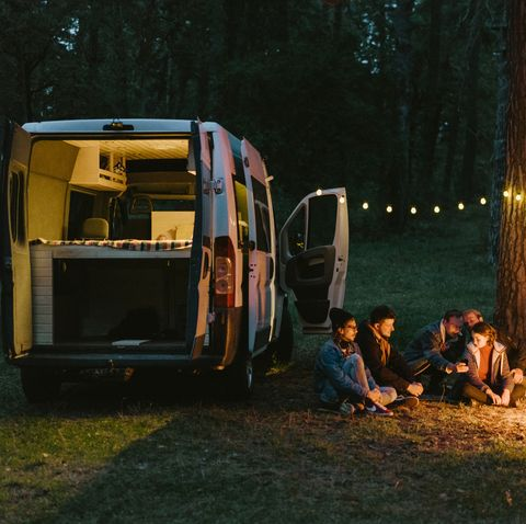 rv travel tips friends camping near the forest