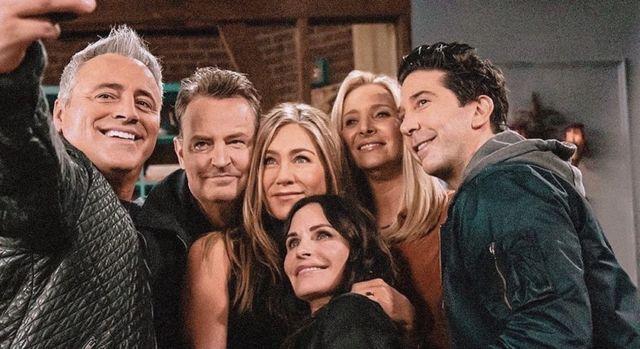 los actores de friends, reunidos