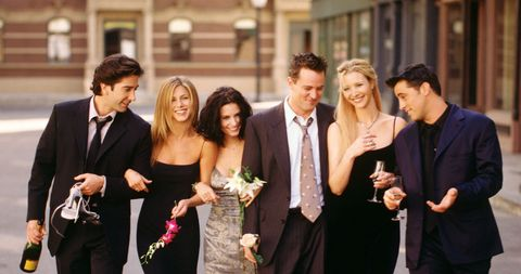 Cast members of NBC's comedy series Friends