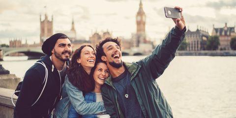 Friends enjoying London together