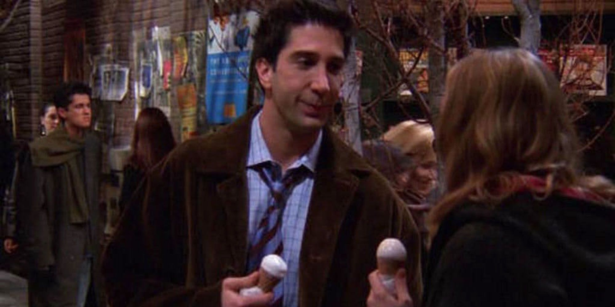 Ross lied about not liking ice cream.