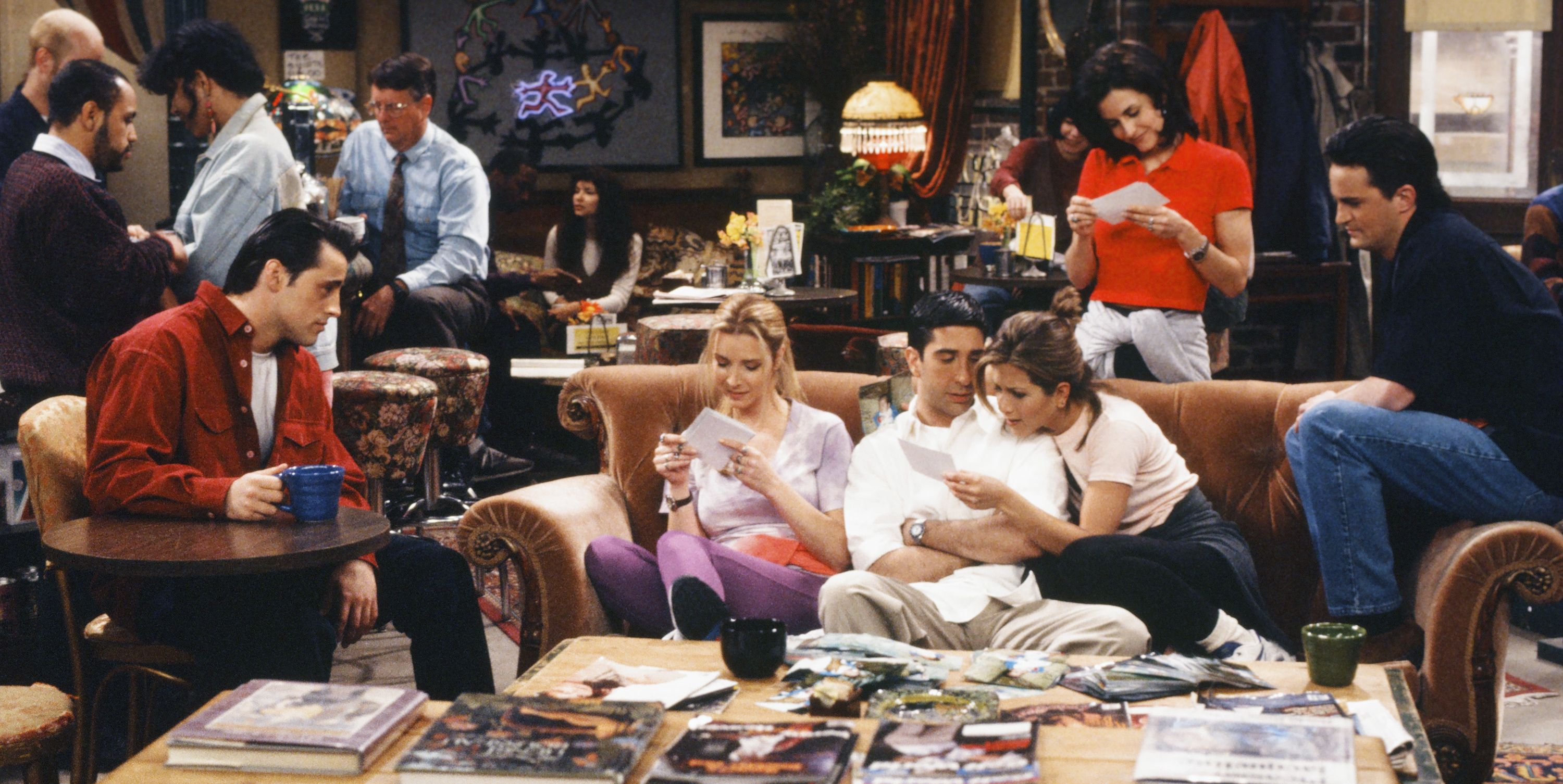 The orange sofa in Central Perk was found in the basement of Warner Bros.