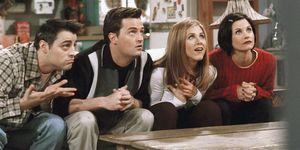 Joey, Chandler, Rachel en Monica in Friends