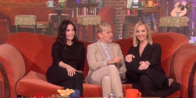 Watch Courteney Cox get a surprise Friends reunion thanks to Ellen DeGeneres