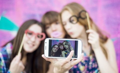 galentines day quotes and instagram captions - friends taking selfie