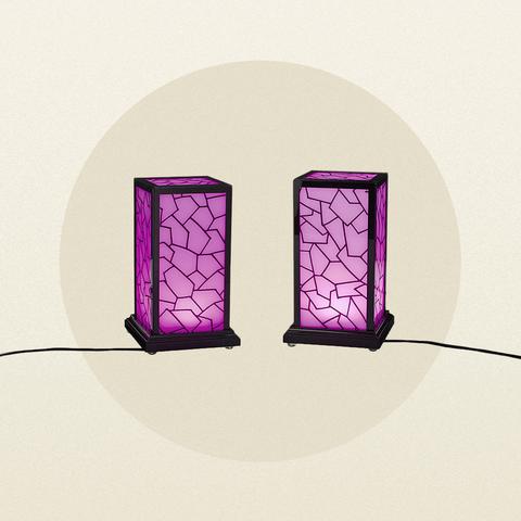 Violet, Purple, Magenta, Rectangle, Lantern, Window, Glass,