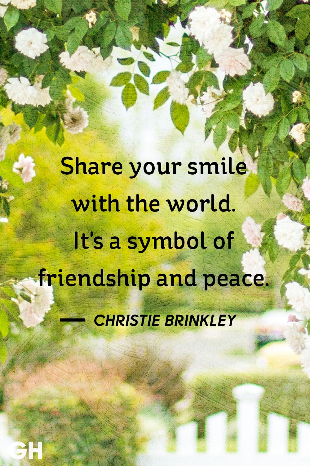 Christie Brinkley Friendship Quote