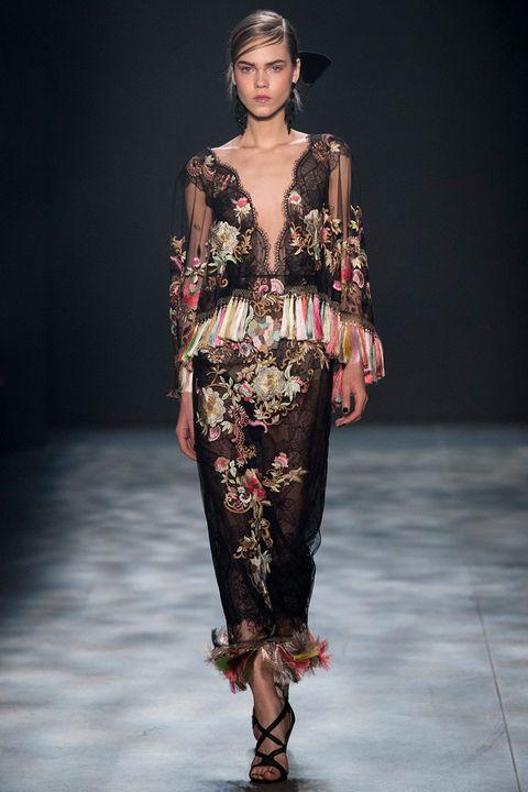 Clothing, Fashion show, Shoulder, Joint, Runway, Waist, Style, Fashion model, Fashion, Beauty,