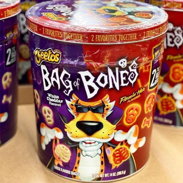 frito lay cheetos bag of bones halloween tin