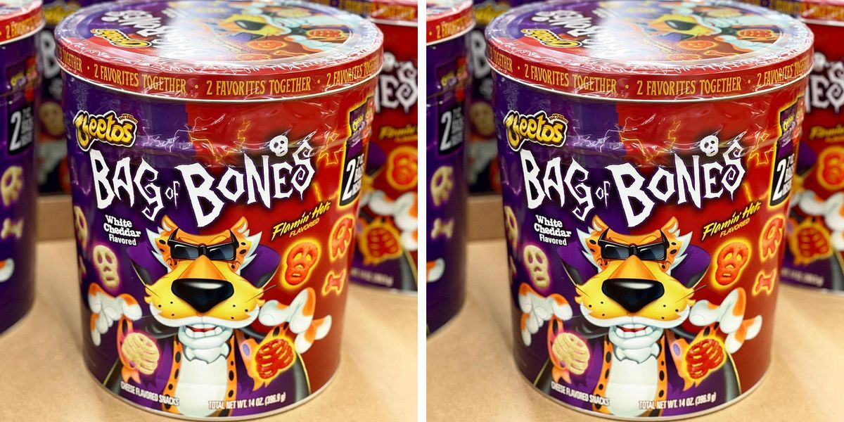 This New Cheetos Halloween Tin Is Filled With Two Flavors of Spooky Snacks