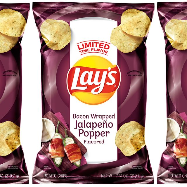 frito lay lay's bacon wrapped jalapeño popper flavored chips