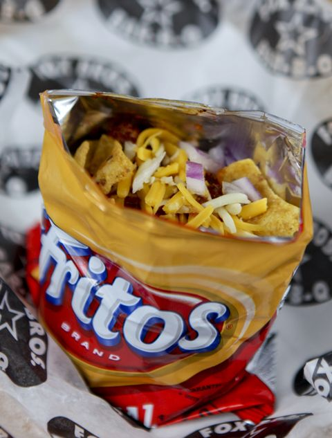 Junk food, Food, Dish, Potato chip, Cuisine, Snack, Ingredient, Frito pie, Sundae, Fast food,