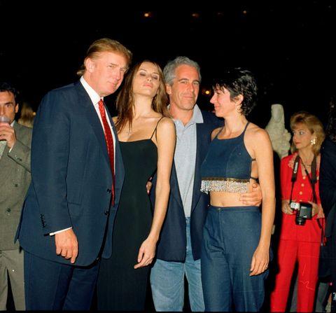 Trump, Knauss, Epstein y Maxwell en Mar-A-Lago