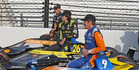 auto may 23 indycar  the 105th indianapolis 500 front row photo shoot