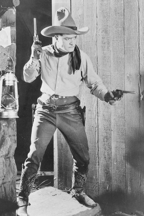 tom mix at the ready