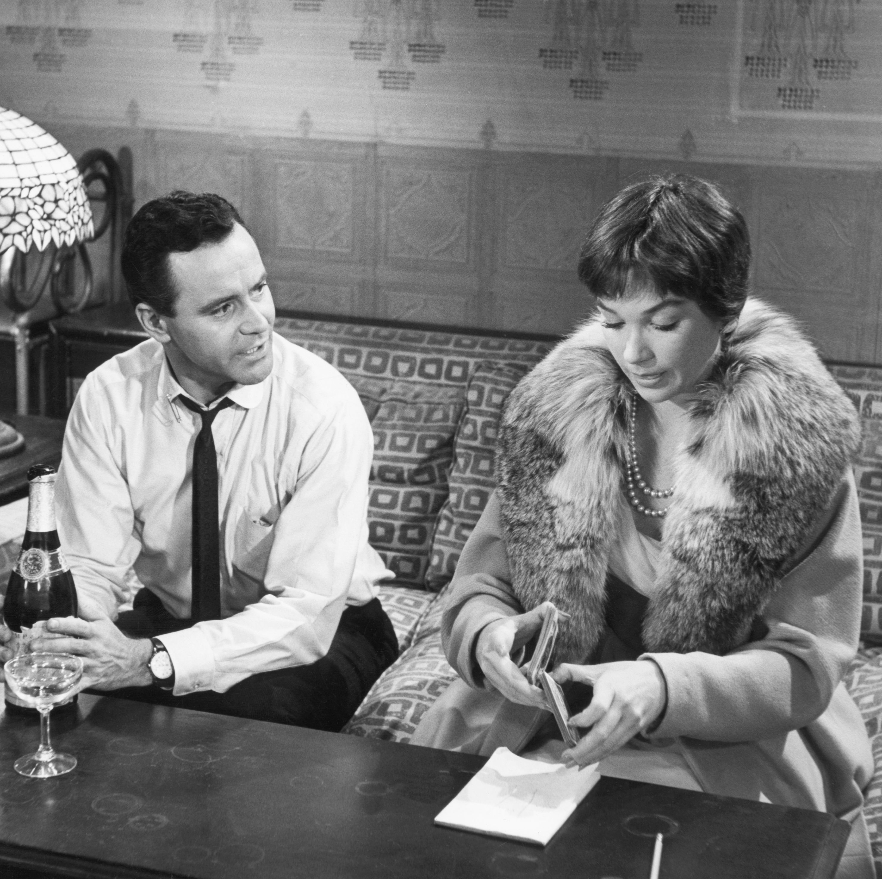 The Apartment An ambitious young man played by Jack Lemmon ingratiates himself to his corporate superiors by offering his apartment for their extramarital affairs. But things get complicated when he discovers that his office crush (Shirley MacLaine) is also having an affair with his boss.