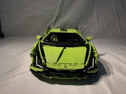take a look at the lego version of a limited edition lamborghini, called the sian fkp 37, this kit produces a 23 inch long version of a car limited to just 63 examples