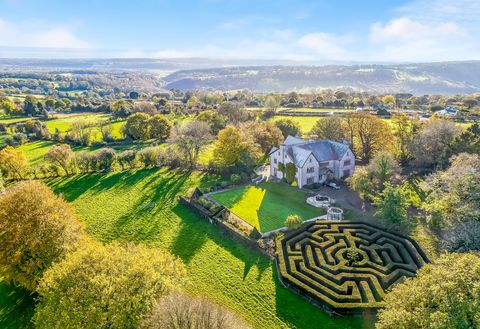 Country house with beautiful garden maze for sale in Wales