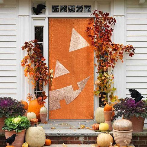 halloween front door cover decoration