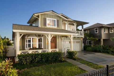 Front Exterior Of Craftsman Style Home