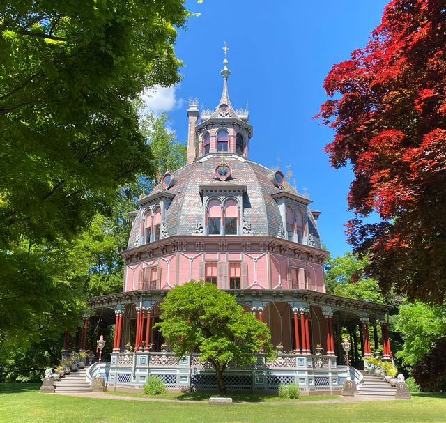 the armour stiner octagon house in irvington, new york