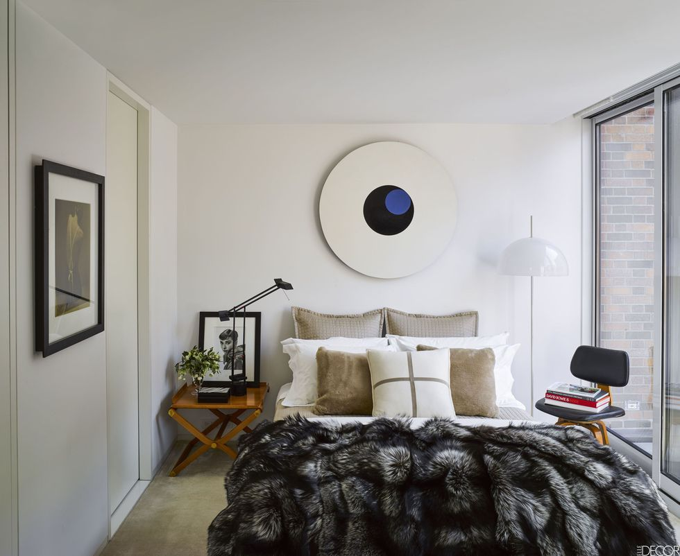 Bedroom Lighting Ideas. Douglas Friedman. Frosted Glass Floor Lamp