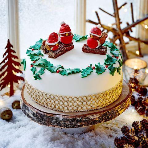 frosty robin cake