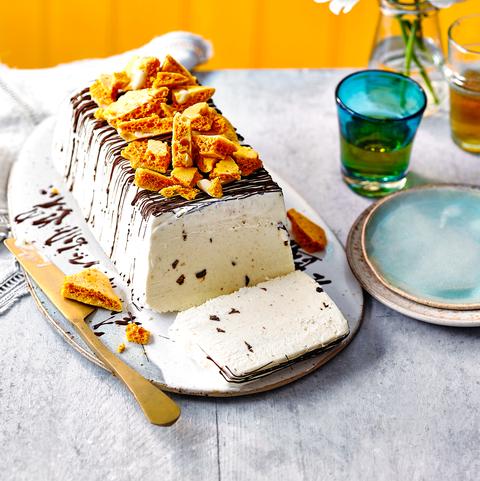 Frozen Banana Parfait with Peanut Honeycomb