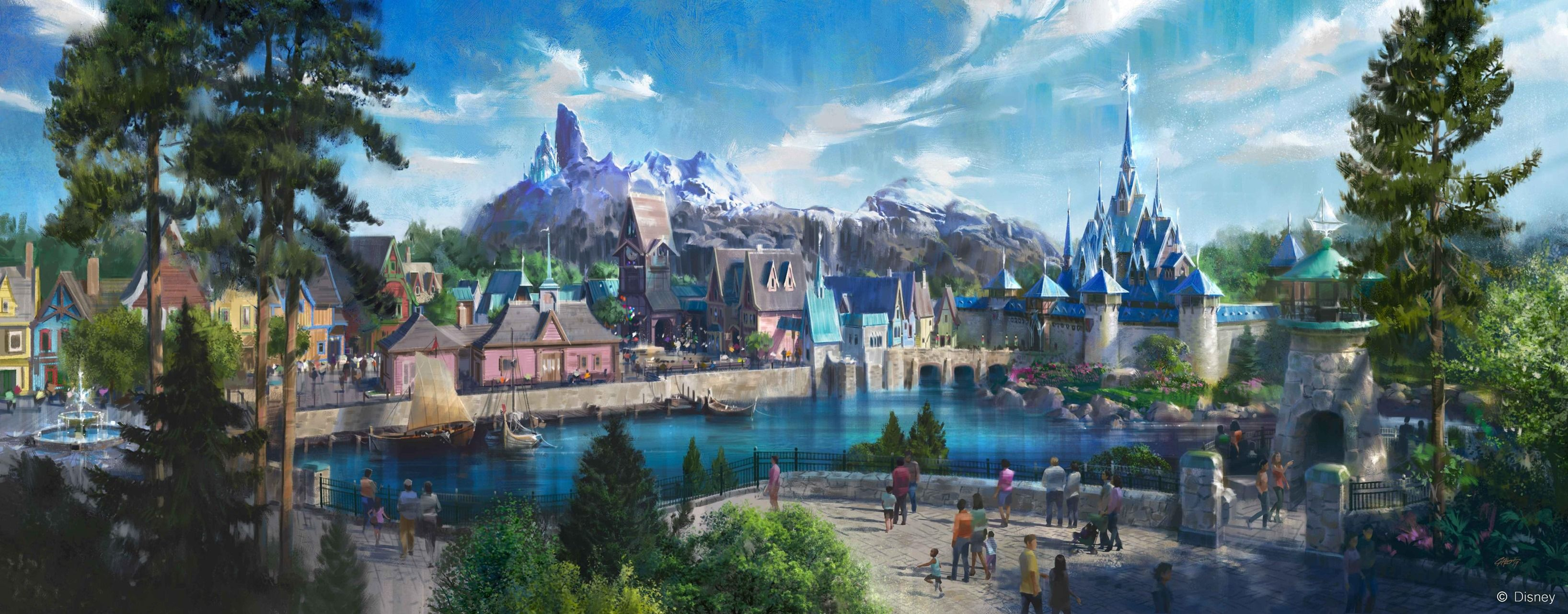 Disneyland Paris Is Opening A 'Frozen'-Themed Park With A Snow-Capped Mountain Of Arendelle
