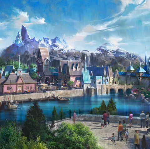 Natural landscape, Amusement park, Town, Landmark, Water park, World, Tourism, Park, Landscape, Metropolitan area,