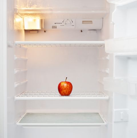 fruit in refrigerator at home