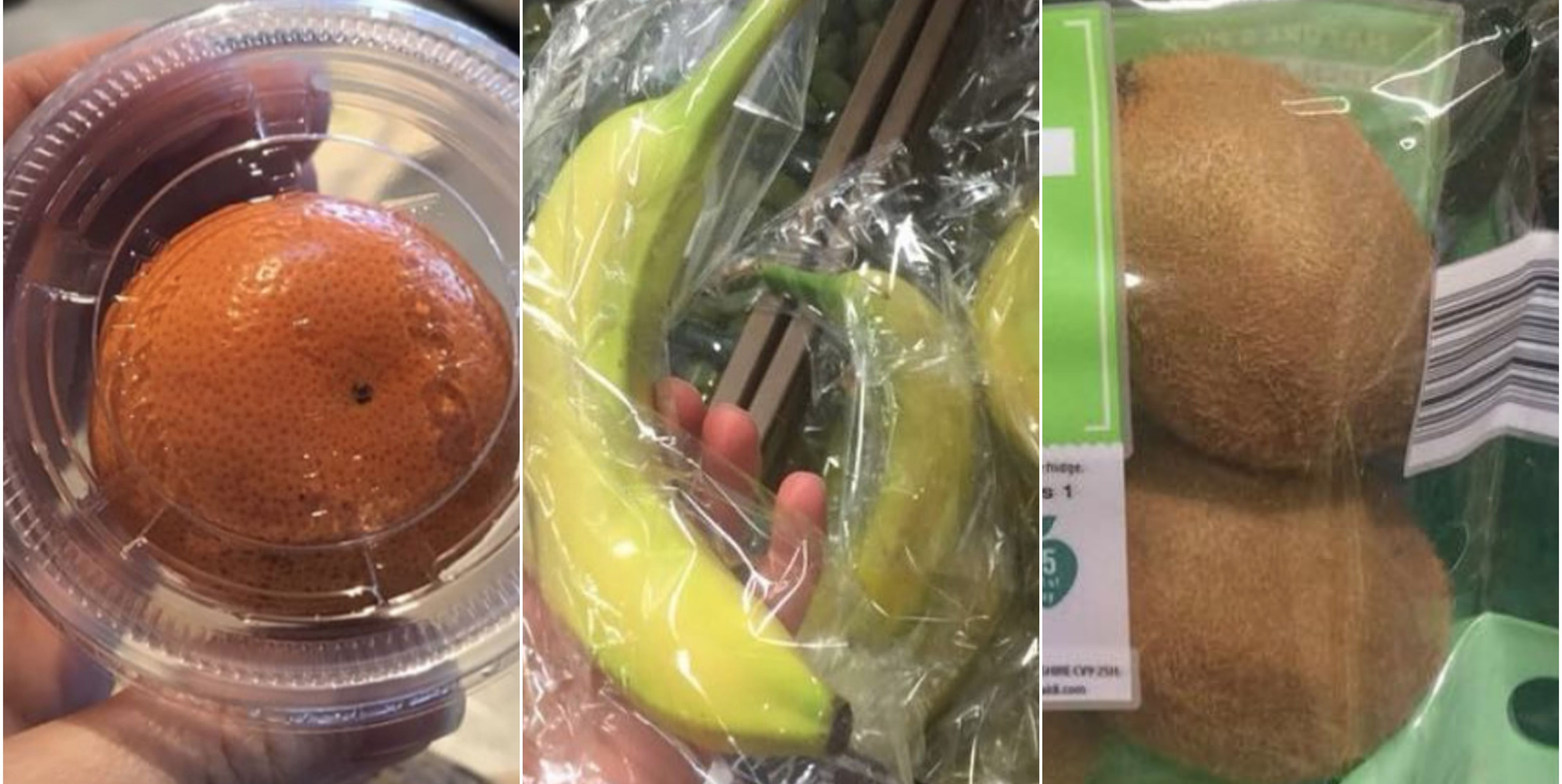 Plastic fruit packaging